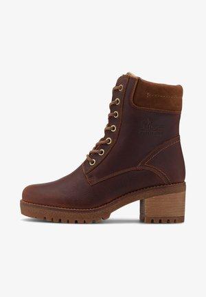 PHOEBE - Lace-up boots - dunkelbraun