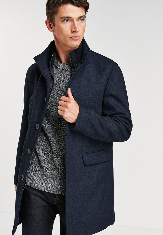 FUNNEL NECK - Short coat - blue
