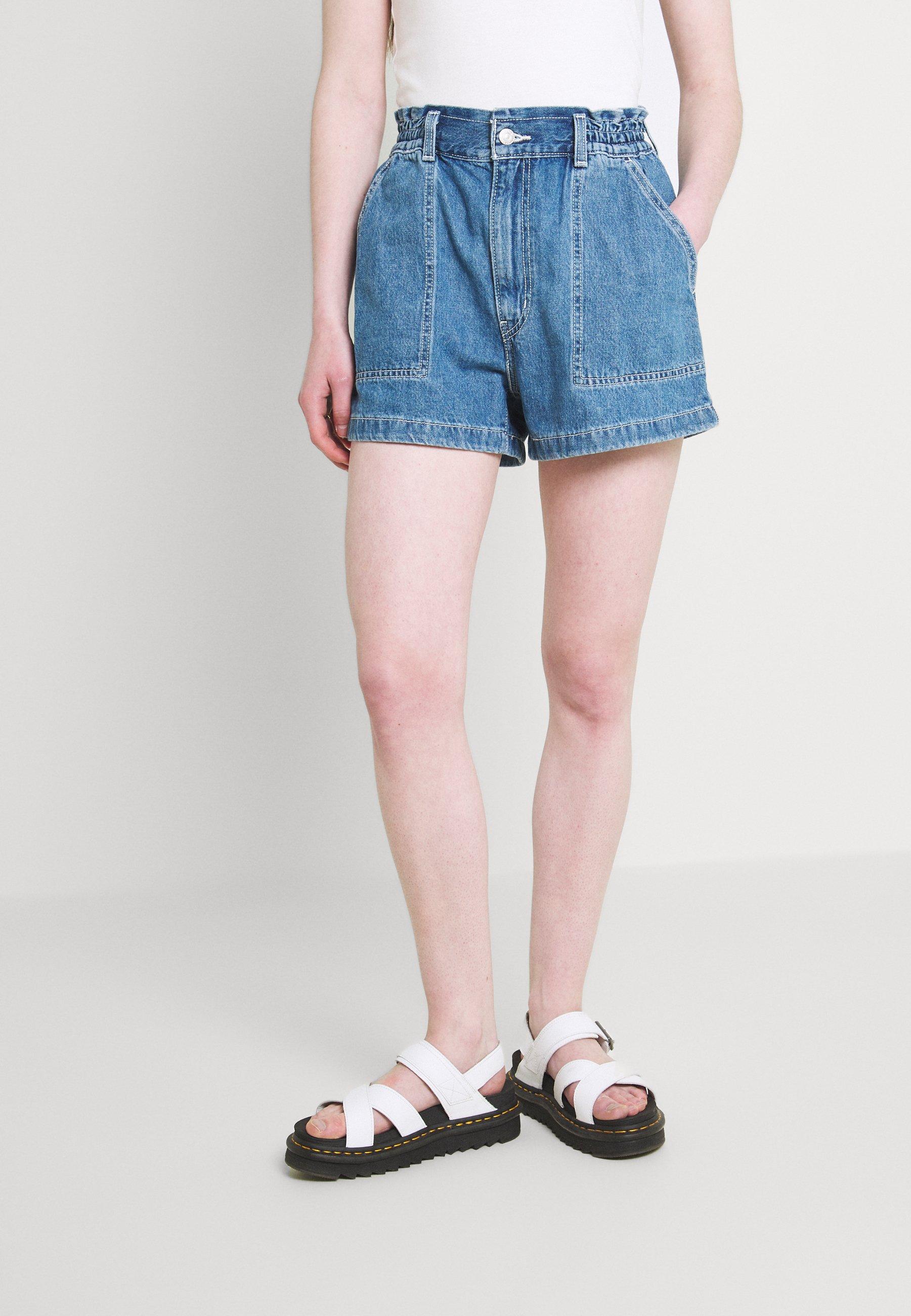 Women HIGH WAIST A LINE - Denim shorts