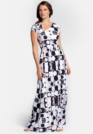 ASYMMETRIC NECKLINE - Maxi dress - geo circle print