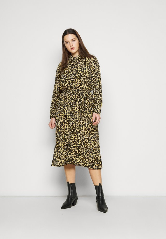 PCLESLIE MIDI SHIRT DRESS  - Shirt dress - buttercup