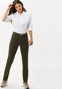 BRAX - STYLE CAROLA - Trousers - dark olive - 1