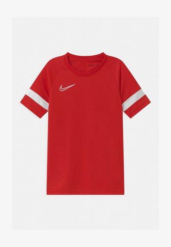 ACADEMY UNISEX - Print T-shirt - university red/white