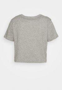 Pieces Petite - PCRINA CROP PETIT 2 PACK - Basic T-shirt - black/mottled light grey - 1