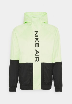 AIR  - Impermeable - black/light liquid lime