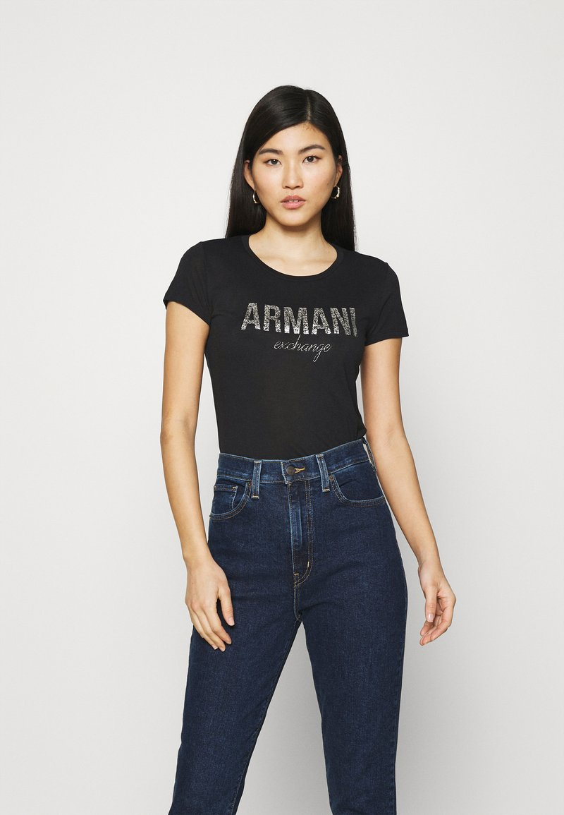 Armani Exchange - Print T-shirt - black