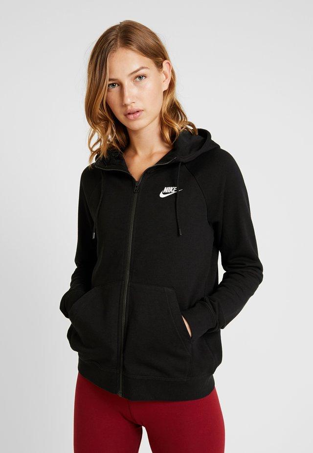 HOODIE - veste en sweat zippée - black/white