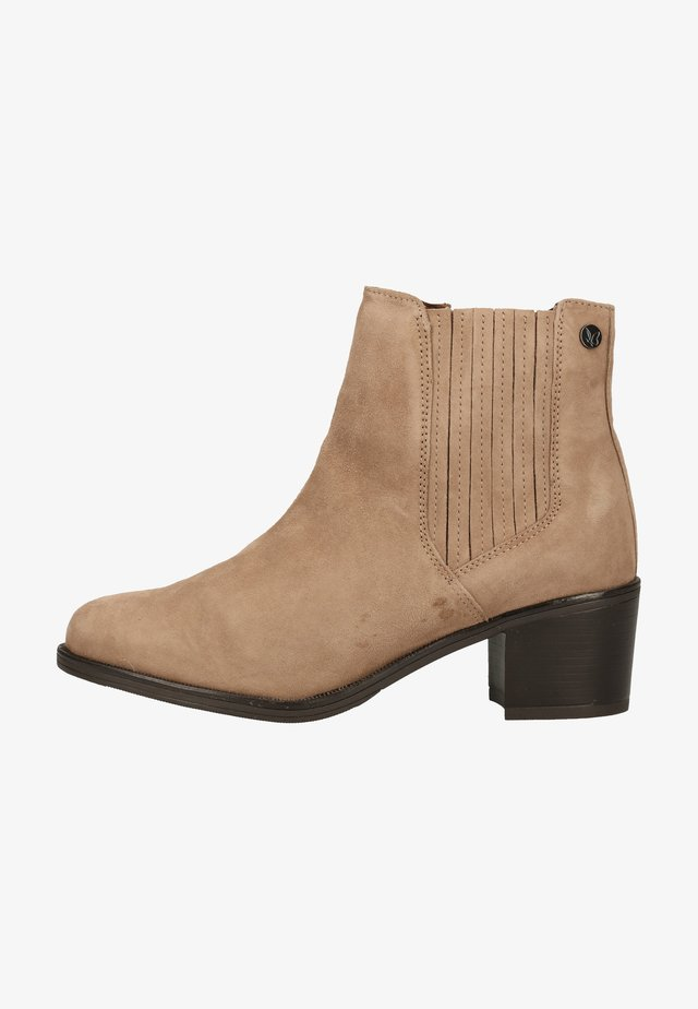 Ankle boots - taupe suede