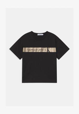 FOIL LOGO BOXY  - Camiseta estampada - black