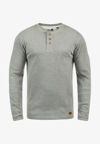 Solid - RUNDHALSSHIRT TOKATO - Long sleeved top - grey melange - 4