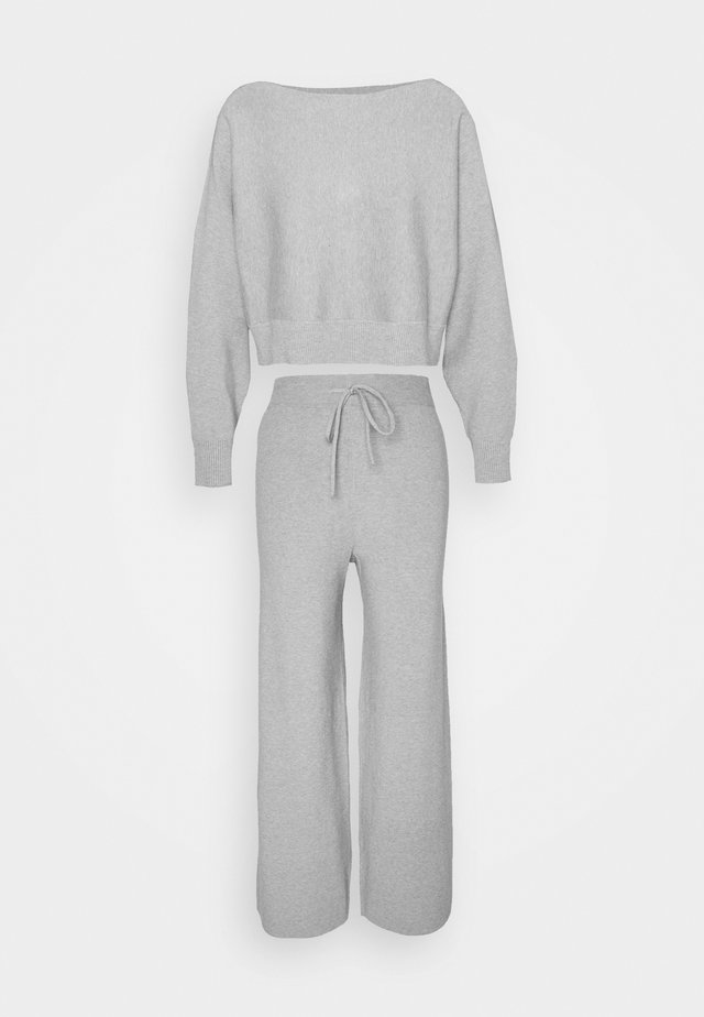 SET STRICK - Jumper & Wide leg trouser - Jumper - mottled light grey
