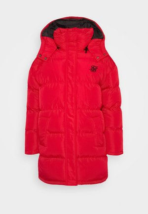 LONGLINE PADDED JACKET - Winter coat - red