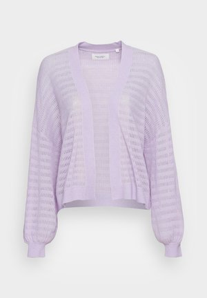 OPEN CARDIGAN WITH LONG SLEEVE - Cardigan - pastel lilac