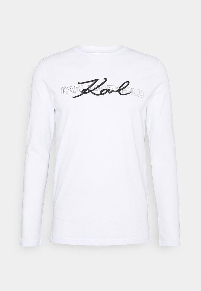 CREWNECK - T-shirt à manches longues - white