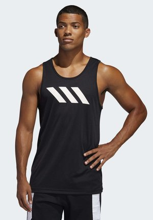 SPORT 3-STRIPES TANK TOP - Sports shirt - black