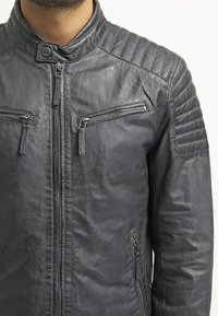 Gipsy - CHESTER - Leather jacket - dunkelgrau - 4