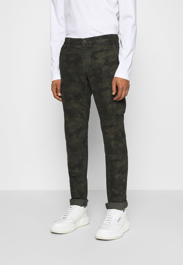 CHILE  - Pantalon cargo - dark green/dark brown