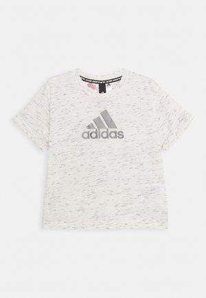 LOGO TEE - T-shirt print - white/Silver