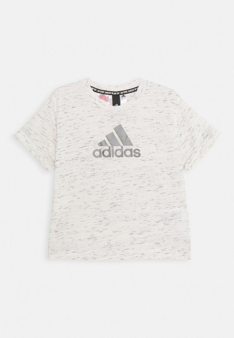 adidas Performance - LOGO TEE - Camiseta estampada - white/Silver
