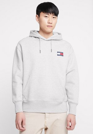 BADGE HOODIE - Bluza z kapturem - grey
