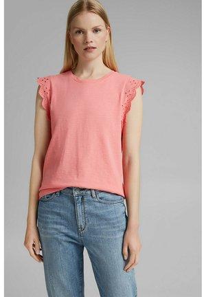 ANGLAIS - Print T-shirt - coral