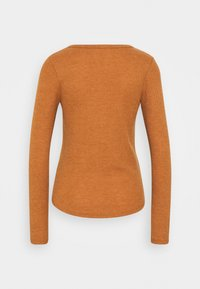 Cotton On - WINNIE WAFFLE SCOOP HENLEY LONG SLEEVE  - Long sleeved top - rust - 1