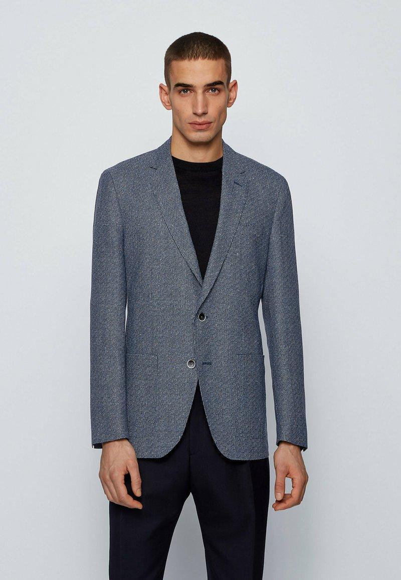 BOSS - Blazer jacket - open blue
