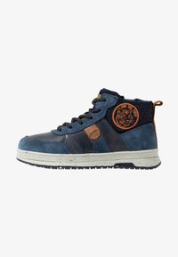 Geox - ASTUTO BOY - High-top trainers - navy/orange - 1