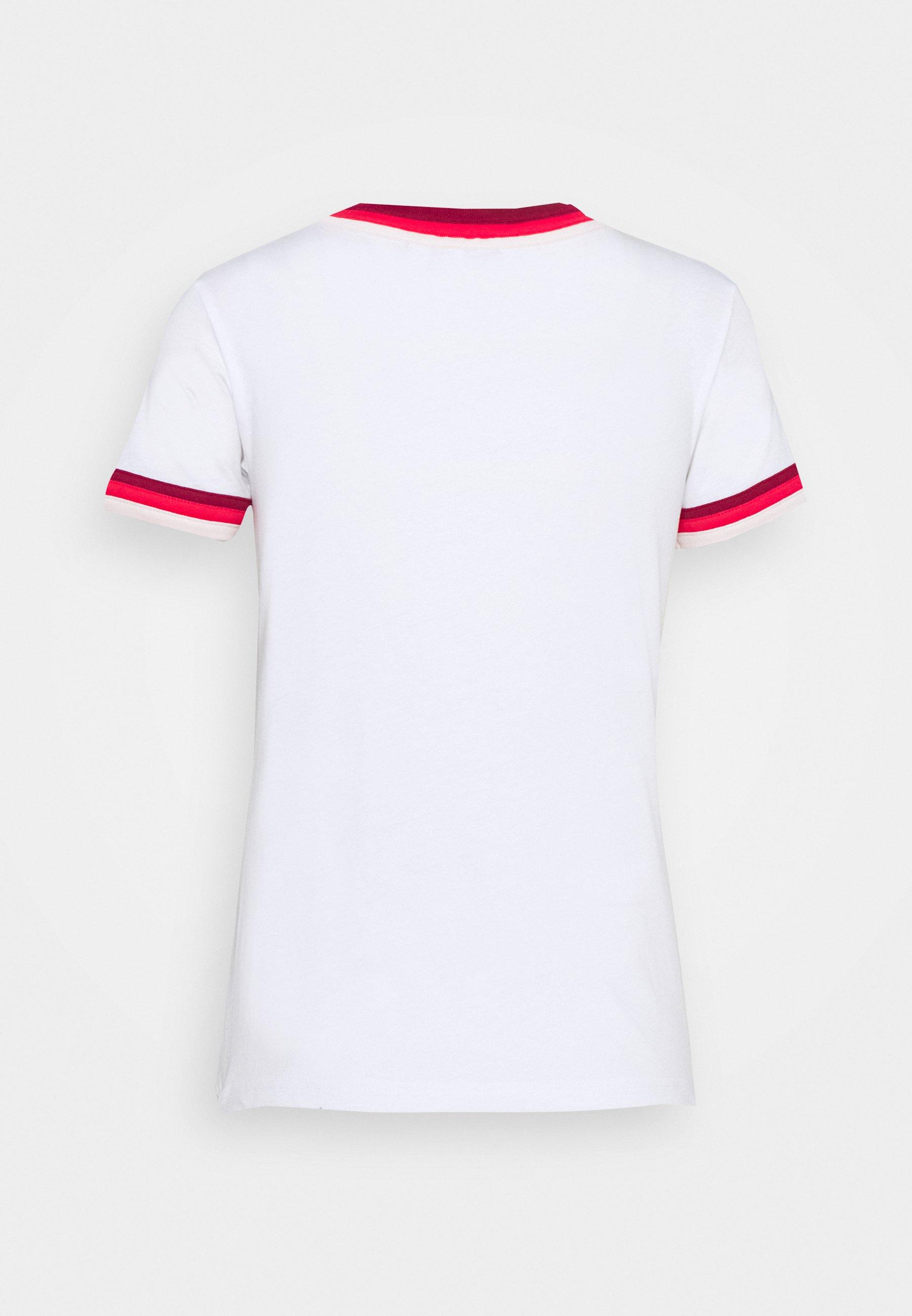Wrangler Triple Ringer Tee - T-shirts Med Print White/hvit