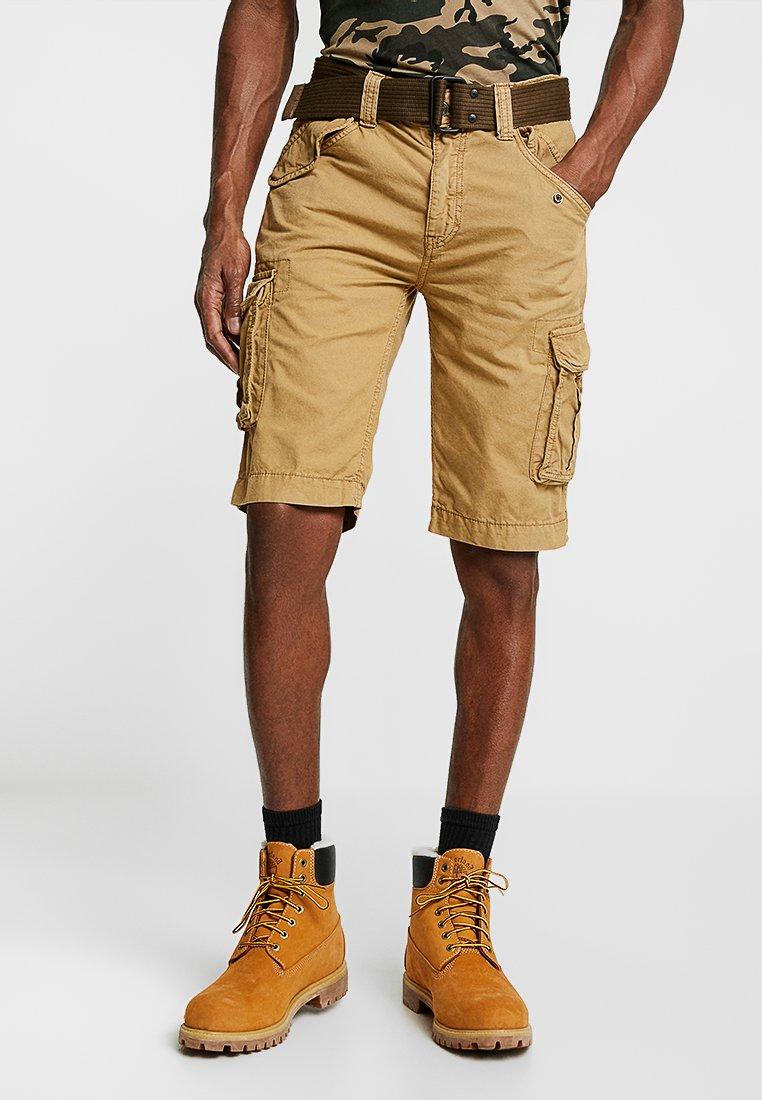 Schott - BATTLE - Shorts - beige