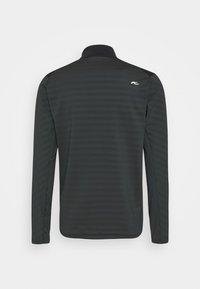 Kjus - MEN DAVID MIDLAYER JACKET - Fleece jacket - dark jet green/black - 1
