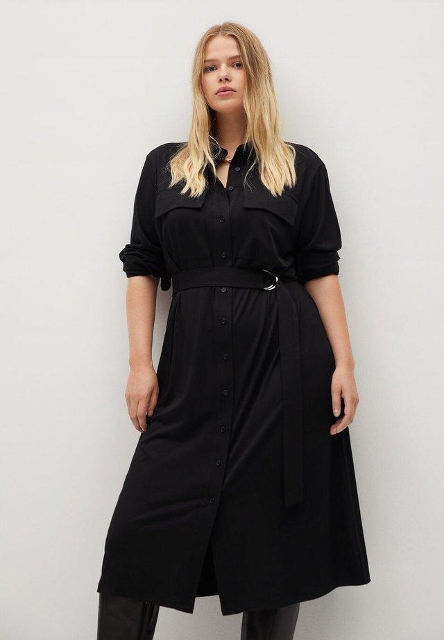 SAHARA - Robe chemise - schwarz