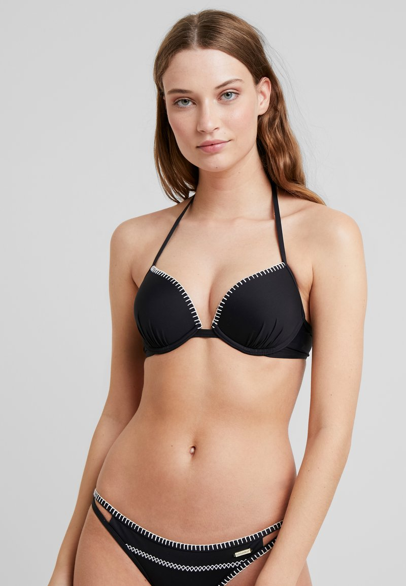 Sunseeker - PUSH UP - Bikinitoppe - black
