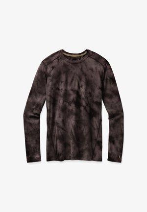 BASELAYER LONG SLEEVE - Long sleeved top - black marble wash