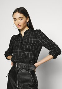 ONLY - ONLANNALIE - Button-down blouse - black/white - 3