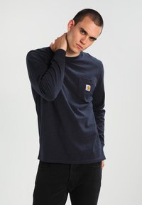 Carhartt WIP - POCKET  - Long sleeved top - dark navy heather - 0