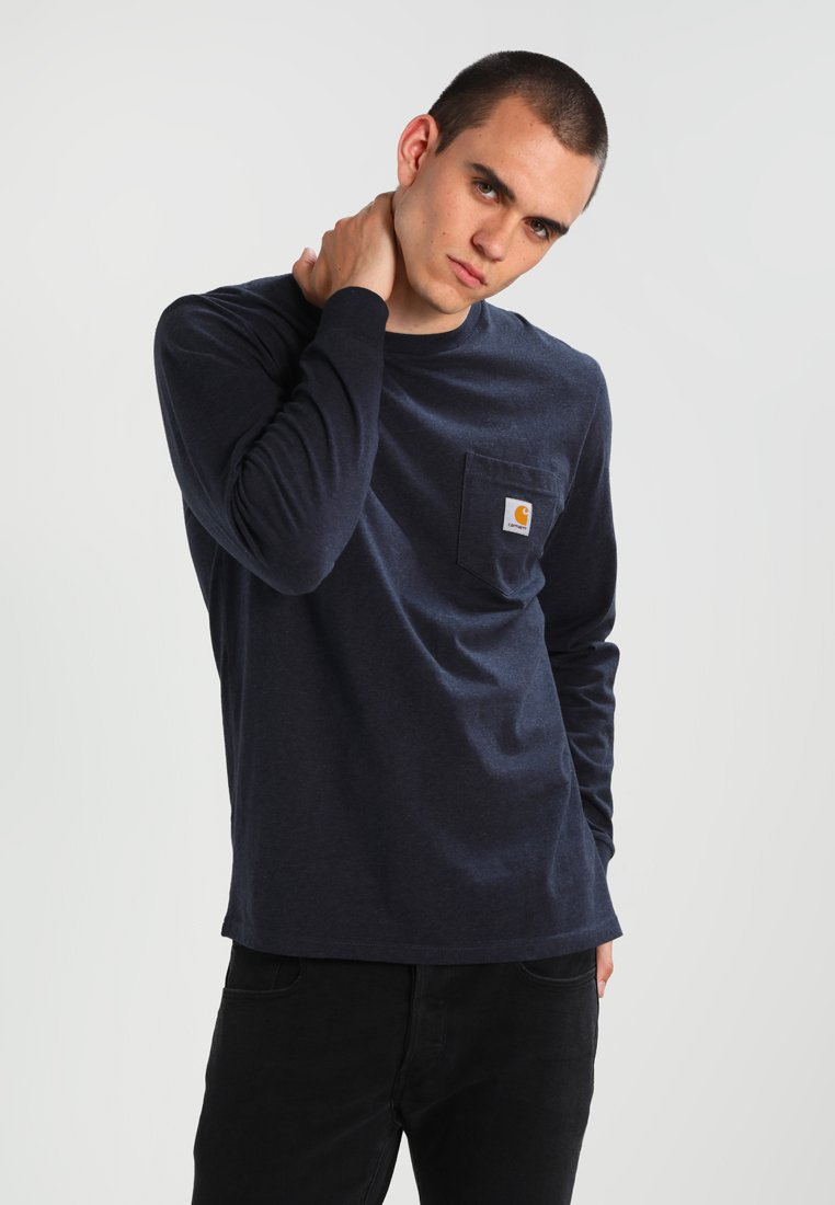 Carhartt WIP - POCKET  - Long sleeved top - dark navy heather