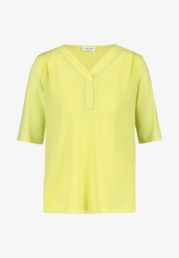MIT KETTENAPPLIKATION - Long sleeved top - light lime