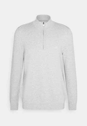 TROYER WITH ZIP - Maglione -  grey