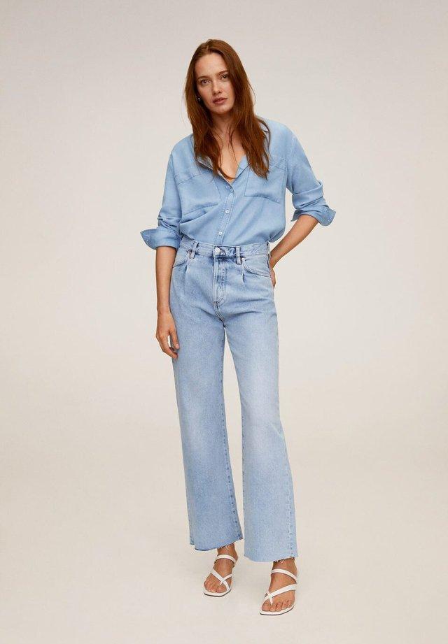 CLASSIC - Button-down blouse - mittelblau