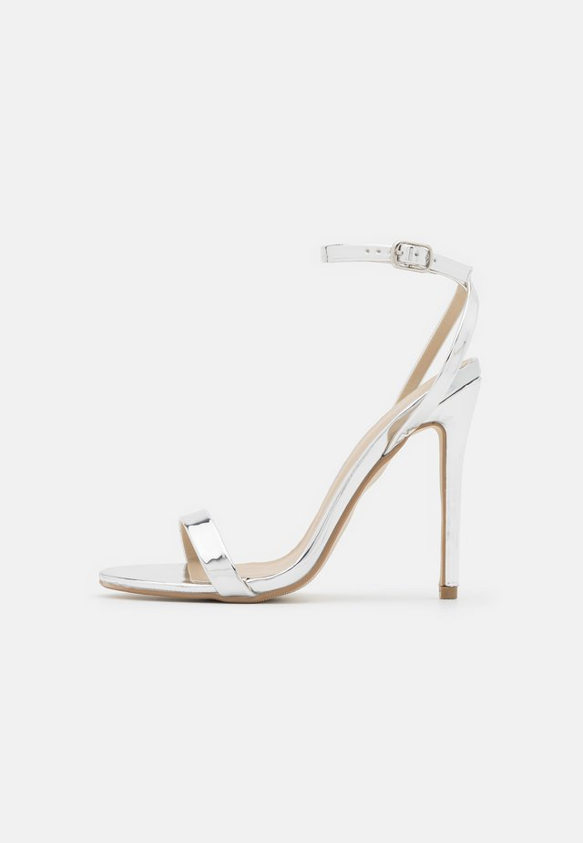 BASIC BARELY THERE - High heeled sandals - silver
