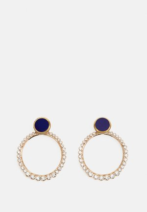 POST DISC WITH HOOP - Earrings - blue/gold-coloured