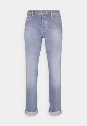 POP OF SMOKE - Jeans slim fit - blue denim