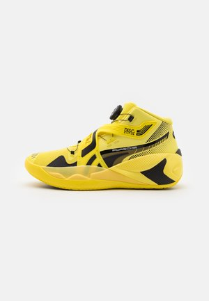 DISC REBIRTH PORSCHE X ALL STAR GAME - Basketball shoes - celandine/black