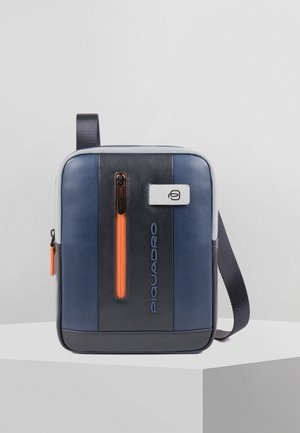 URBAN UMHÄNGETASCHE LEDER 21 CM - Across body bag - blue-grey