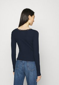 Hollister Co. - BUTTON THRU - Maglietta a manica lunga - navy - 2