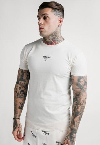 CENTRAL LOGO GYM TEE - T-shirt print - off-white