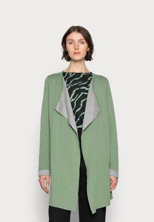 BARBRO  - Cardigan - hedge green/grey melange