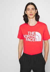 The North Face - STANDARD TEE - T-shirts med print - horizon red - 0