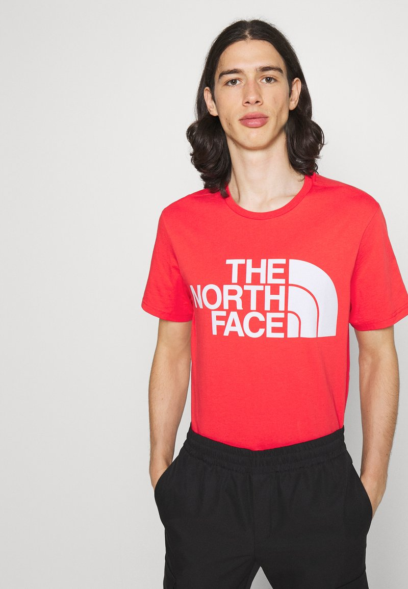 The North Face - STANDARD TEE - T-shirts med print - horizon red